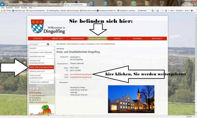 Abbildung Stadtseite Kreis-und Stadtbib. Erklärung